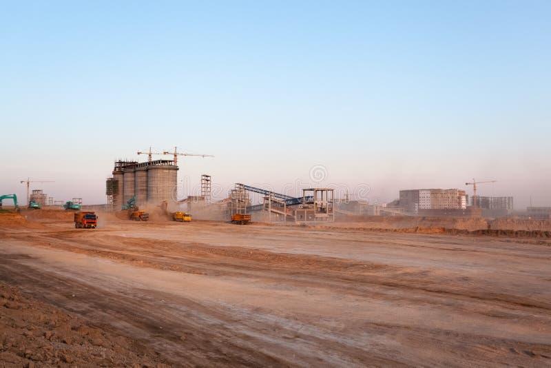 Bouwwerf van de fabriek van de steenkoolvoorbereiding royalty-vrije stock foto's