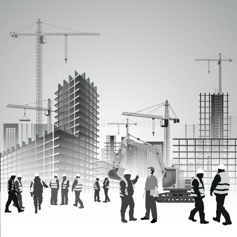 Bouwwerfarbeiders stock illustratie