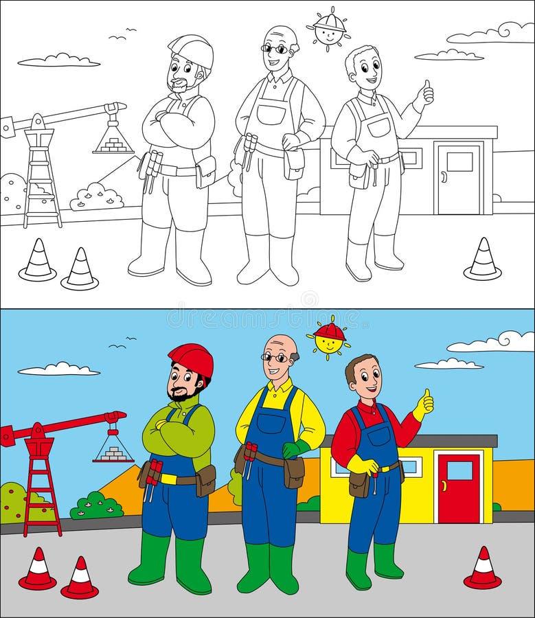 Bouwwerfbouwers royalty-vrije illustratie