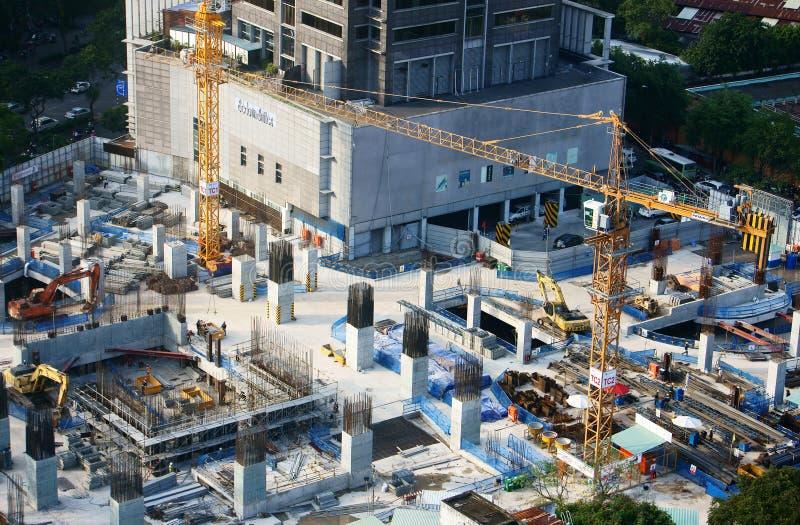 Bouwwerkzaamheid, de stad van Azië stock afbeeldingen
