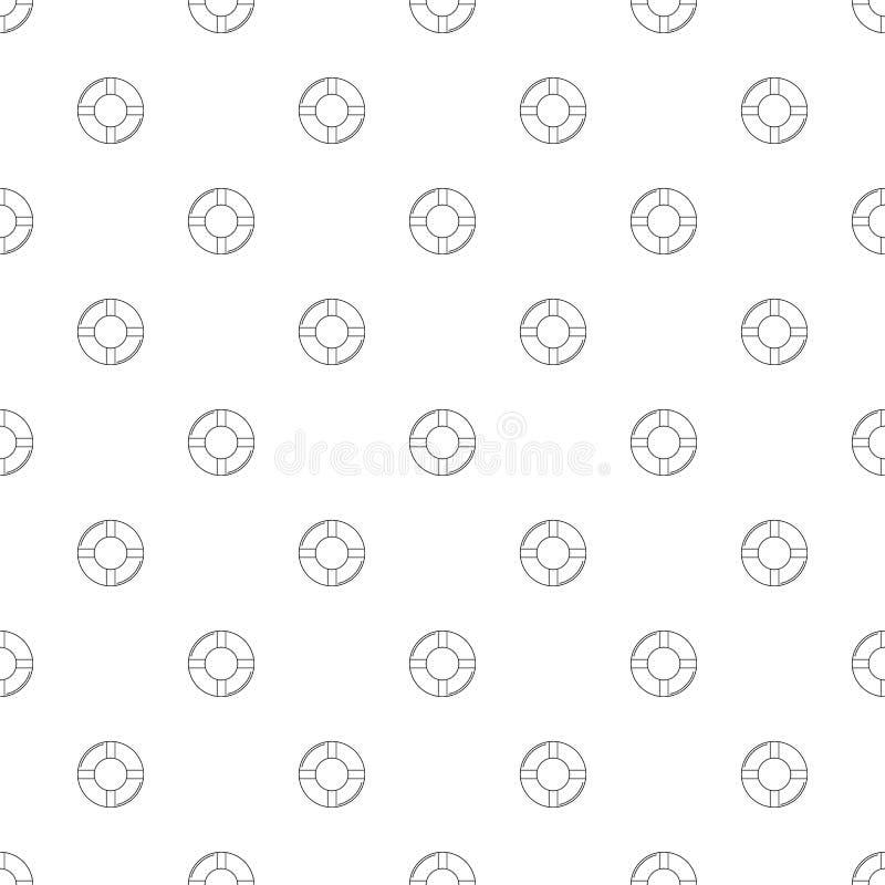 Bouy bakgrund för liv från linjen symbol royaltyfri illustrationer