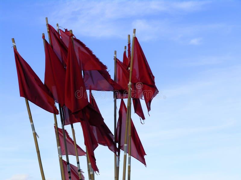 Bouys κόκκινο σημαιών Στοκ φωτογραφία με δικαίωμα ελεύθερης χρήσης