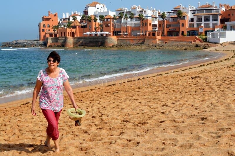Bouznika (strand van de Atlantische kust van Marokko) stock afbeeldingen