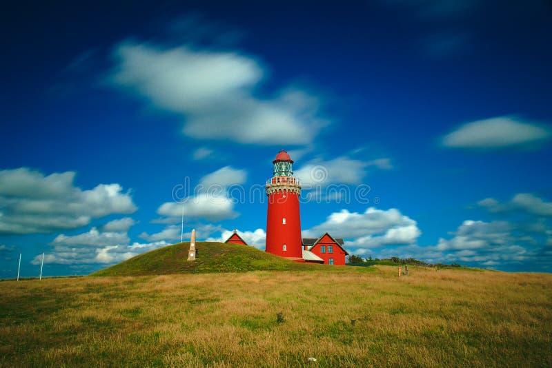 Bovbjerg Fyr lighthouse royalty free stock photo