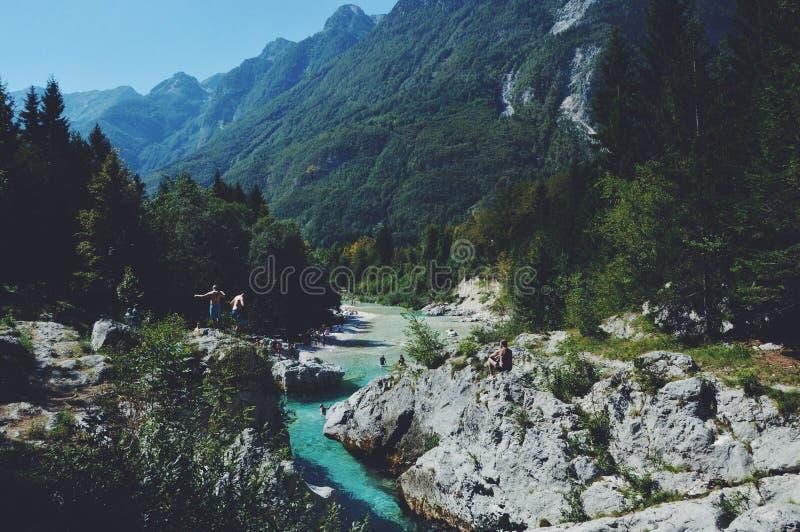 Bovec-Wasser stockfotografie