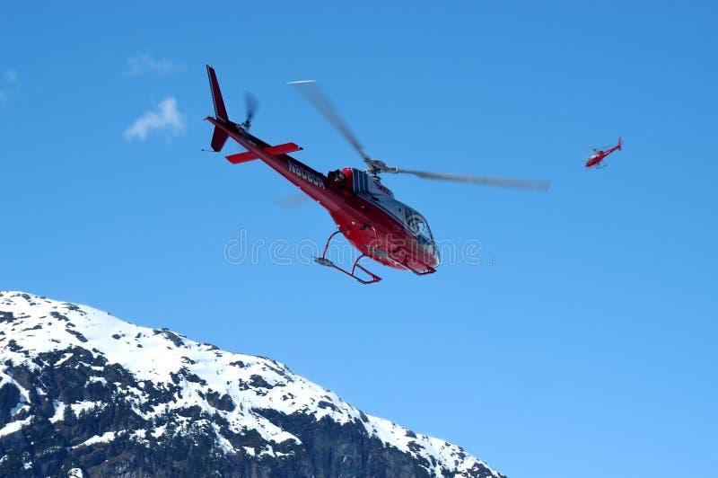 Boven de Mendenhall-Gletsjer stock foto