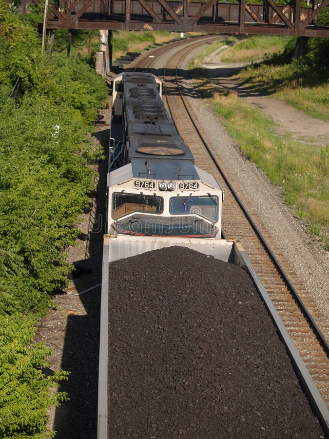 Boven de Trein van de Steenkool stock foto