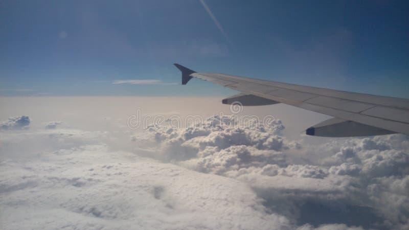 Boven de wolken stock foto's