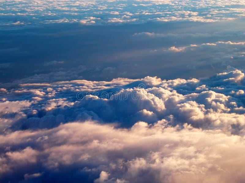 Boven de wolken royalty-vrije stock foto's
