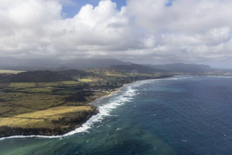 Boven Kauai royalty-vrije stock afbeelding