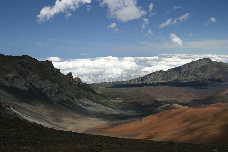 Boven op Haleakala royalty-vrije stock afbeeldingen