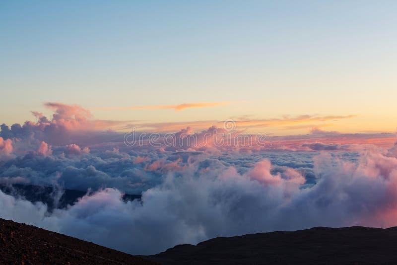 Boven wolken royalty-vrije stock foto's