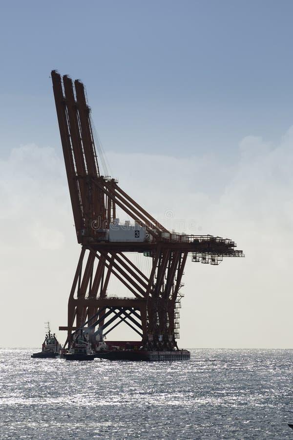 Bovenbouw van 1350 ton en 112 meters stock foto