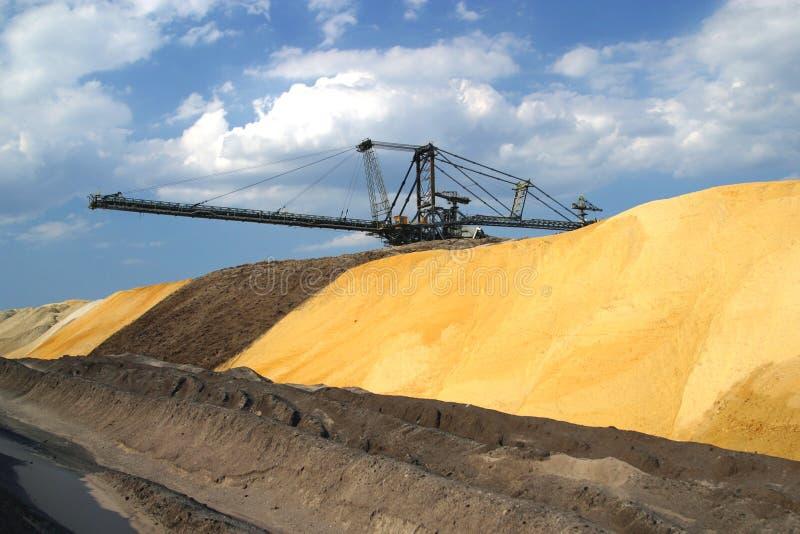 Bovengrondse mijnbouw royalty-vrije stock afbeelding