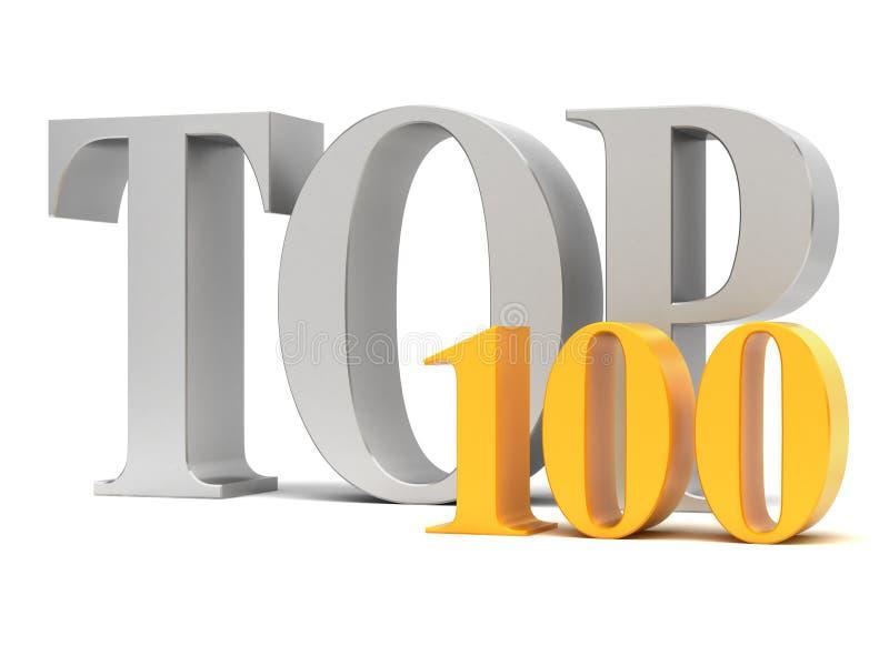 Bovenkant 100 royalty-vrije illustratie