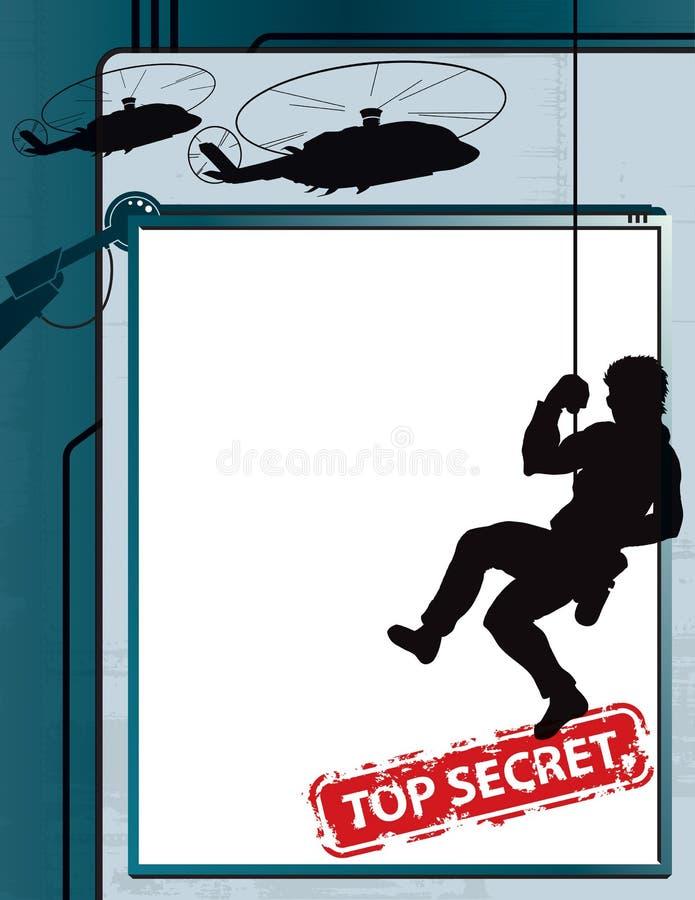 Bovenkant - de geheime Achtergrond van de Spion royalty-vrije illustratie