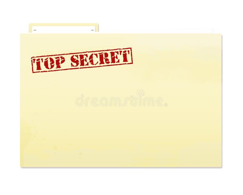 Bovenkant - geheim Dossier vector illustratie