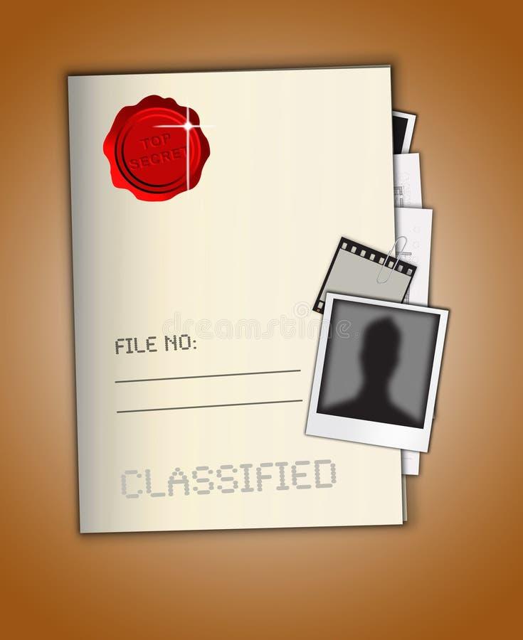 Bovenkant - geheim Dossier royalty-vrije illustratie