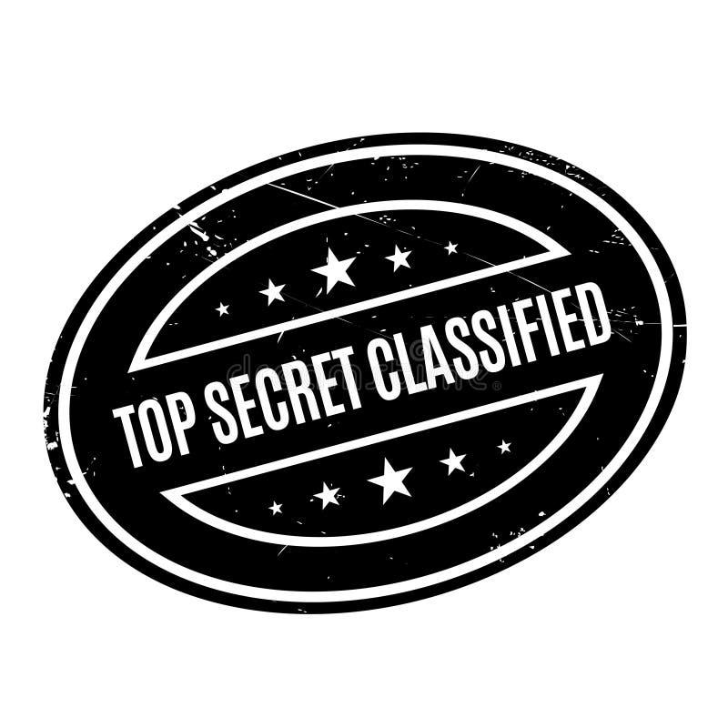 Bovenkant - geheim Geclassificeerde rubberzegel royalty-vrije stock fotografie