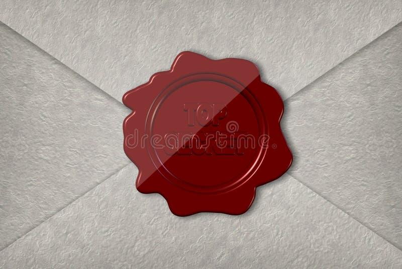 Bovenkant - geheime brief royalty-vrije illustratie