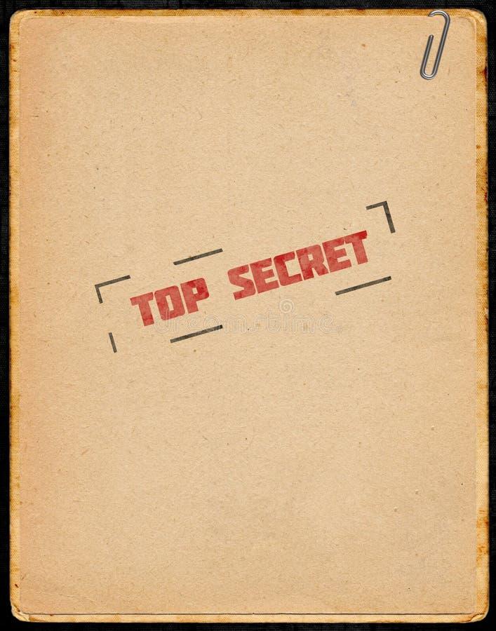 Bovenkant - geheime dokumenten royalty-vrije illustratie