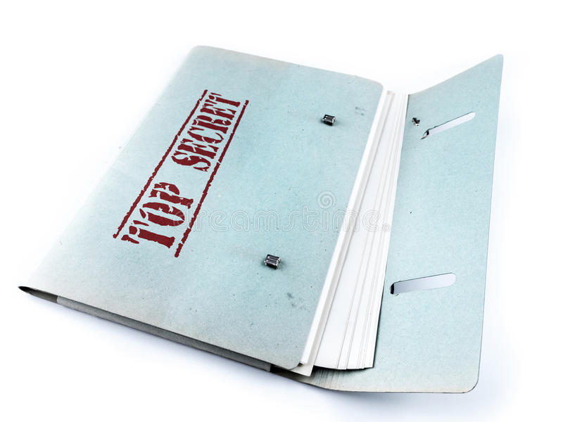 Bovenkant - geheime Dossiers stock foto's