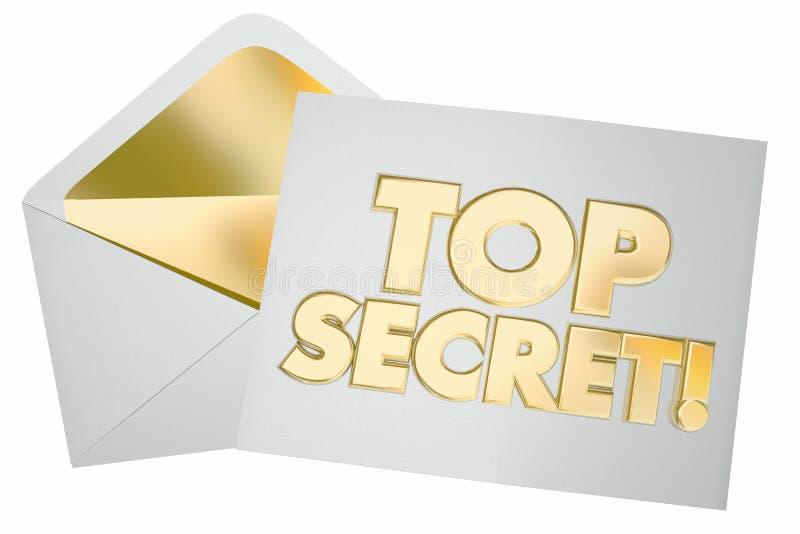 Bovenkant - geheime het Bericht Vertrouwelijke Nota van de Brievenenvelop royalty-vrije illustratie