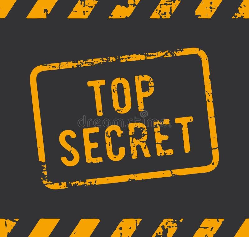 Bovenkant - geheime rubberzegel stock illustratie
