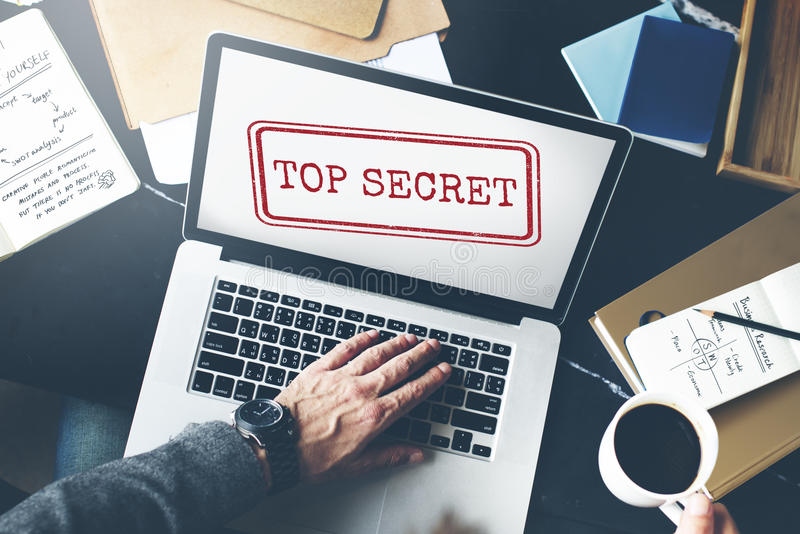 Bovenkant - het geheime Concept van de Privacy Vertrouwelijke Geclassificeerde Zegel stock afbeeldingen