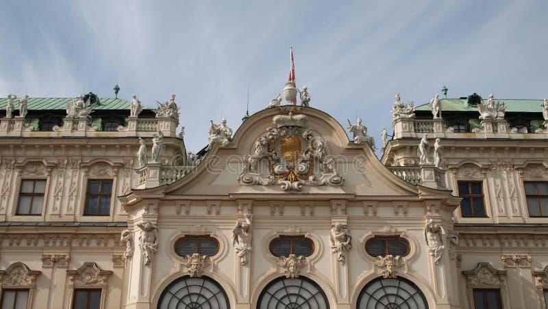Bovenkant van Belvedere Paleis stock foto