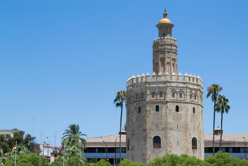 Bovenkant van de Gouden toren royalty-vrije stock afbeelding