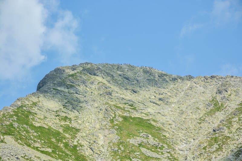Bovenkant van de Krivan-piek in Hoge Tatras, Slowakije stock foto's