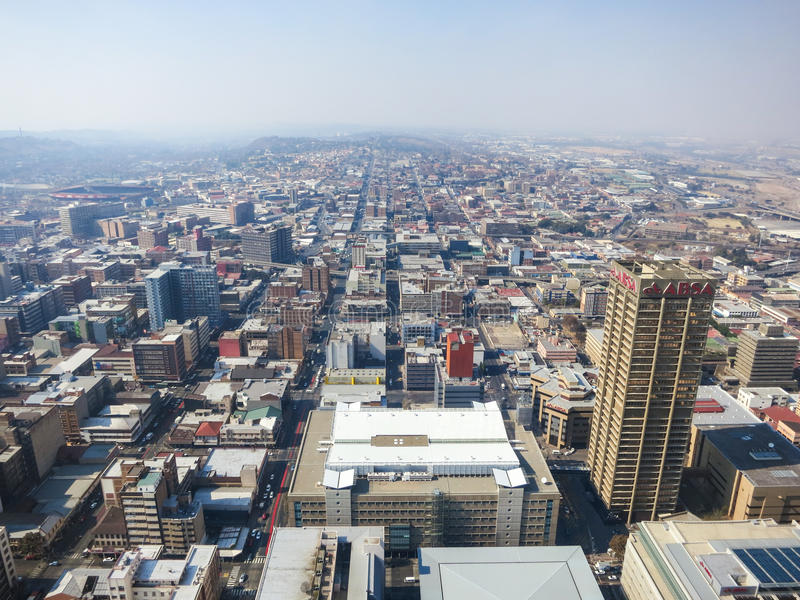 Bovenkant van de Mening van Afrika, Johannesburg, Zuid-Afrika stock foto's