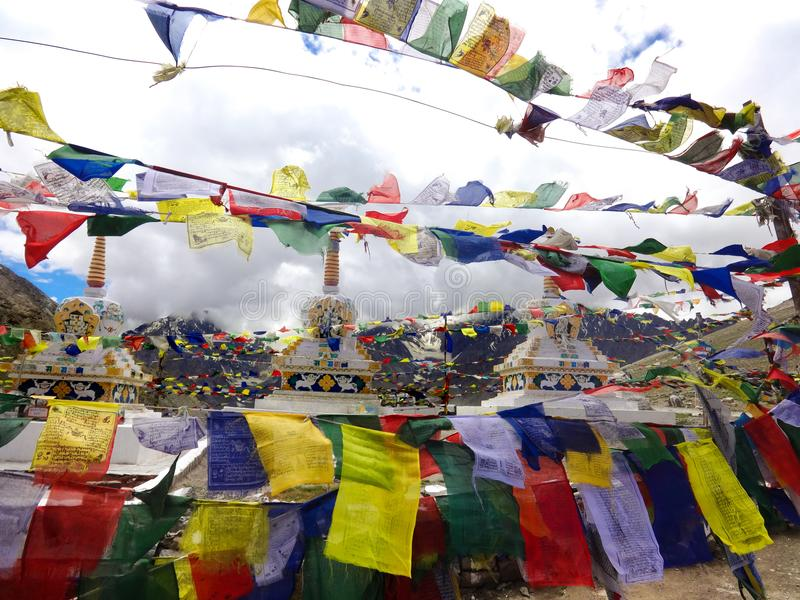 Bovenkant van de Rohtang-pas stock afbeeldingen