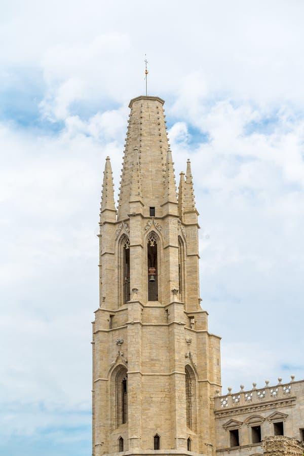 Bovenkant van de St Mary Kathedraaltoren royalty-vrije stock afbeeldingen