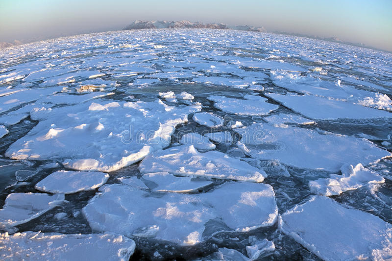 Bovenkant van de Wereld - NoordpoolOceaan - Groenland royalty-vrije stock afbeeldingen