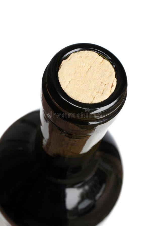 Bovenkant van een wijnfles royalty-vrije stock afbeeldingen