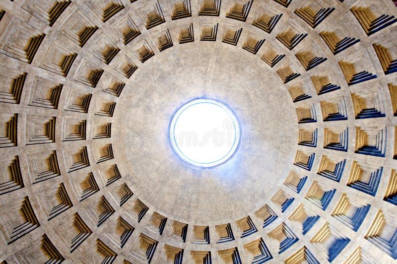 Bovenkant van het Pantheon stock fotografie