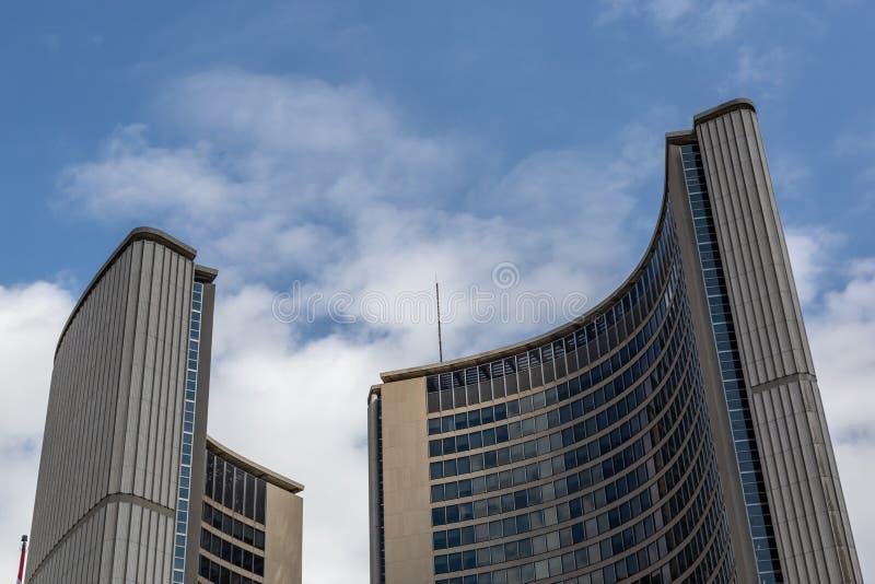 Bovenkant van het stadhuis Toronto Ontario Canada stock foto's