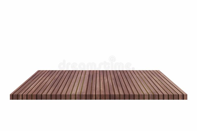 Bovenkant van houten die lijst op witte achtergrond wordt geïsoleerd - kan voor vertoning of montering uw producten worden gebrui royalty-vrije stock fotografie