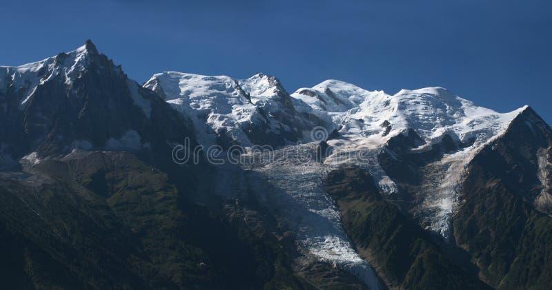 Bovenkant van Mont Blanc in de Franse Alpen. 4807 m stock afbeeldingen
