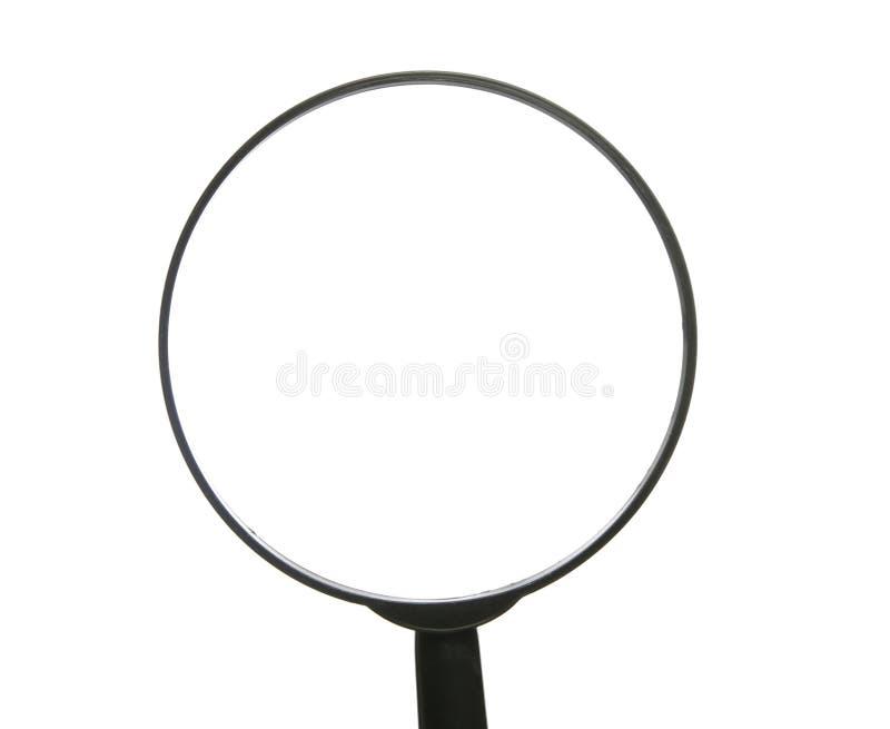 Bovenkant van Vergrootglas op Witte Achtergrond royalty-vrije stock foto