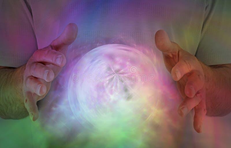 Bovennatuurlijke Orb Energievorming stock illustratie