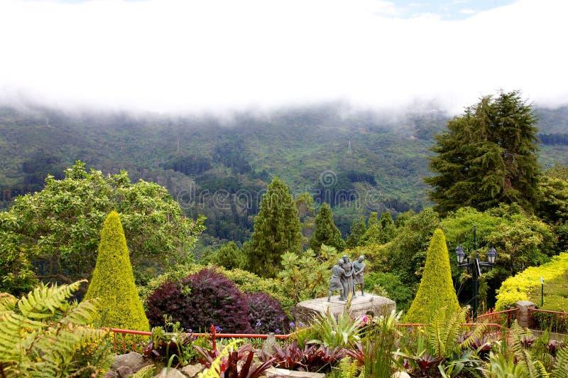 Bovenop Cerro DE Monserrate royalty-vrije stock afbeeldingen