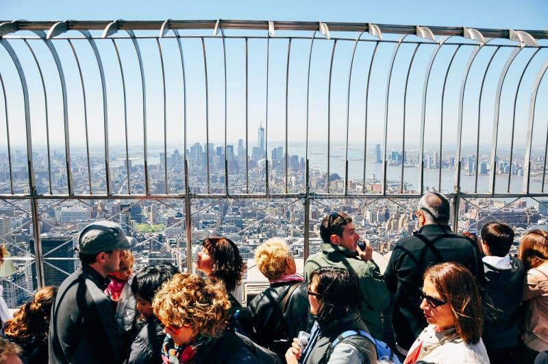 Bovenop het Empire State Building in Manhattan royalty-vrije stock afbeelding
