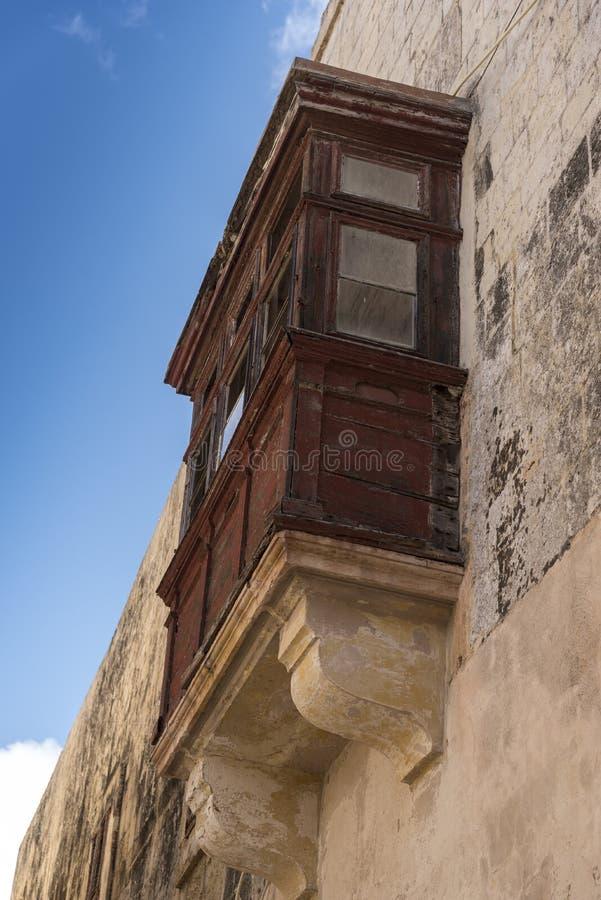 Bovindo nella vecchia città di Mdina Malta fotografia stock libera da diritti
