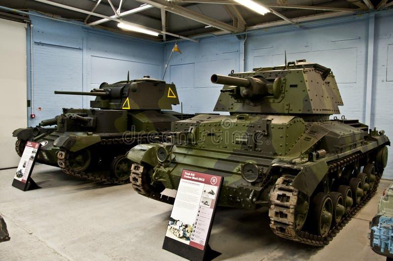 BOVINGTON, INGHILTERRA -12 marzo 2013 - stabilito nel 1947, il museo del carro armato in Bovington, Dorset, visualizza una collez immagini stock libere da diritti