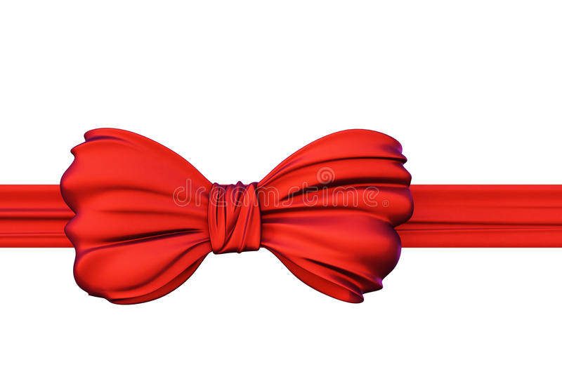 Bow. Red bow isolated on white background vector illustration