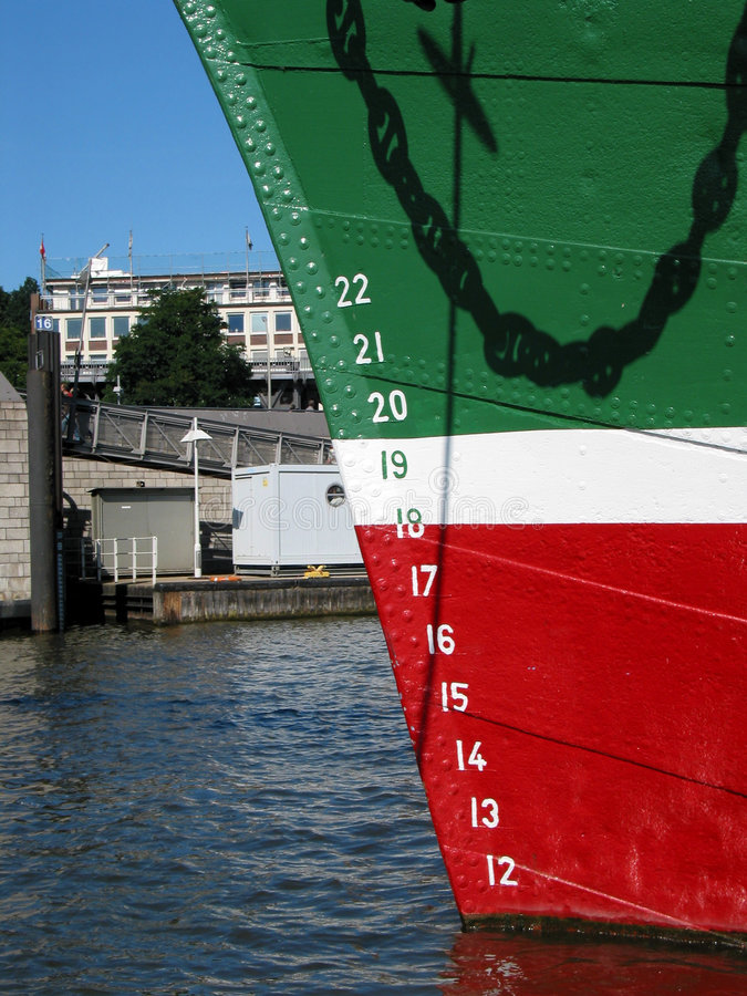 Download Bow of a big ship stock photo. Image of nose, water, ocean - 226810