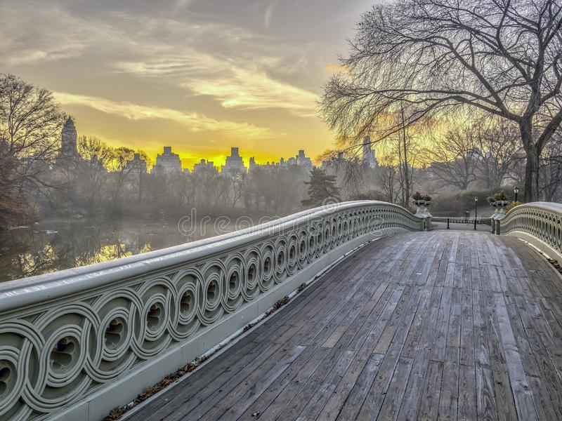 Bow bridge Central Park stock image